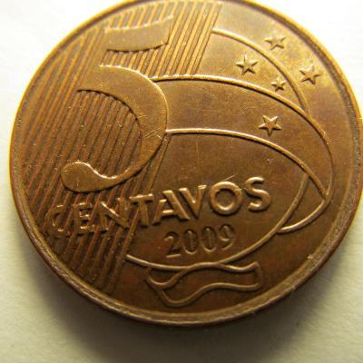 Brazílie 5 Centavos z roku 2009