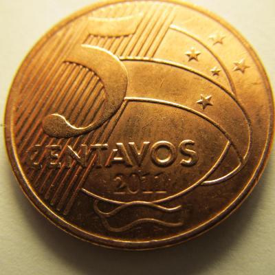 Brazílie 5 Centavos z roku 2011