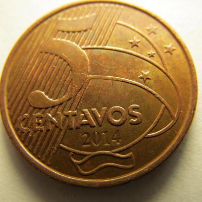 Brazílie 5 Centavos z roku 2014