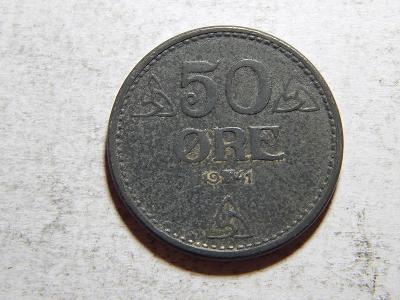 Norsko 50 Ore 1941 Zn XF č25234