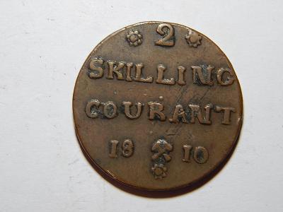 Norsko 2 Skilling 1810 XF č25762