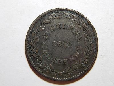 Sv. Helena Ascension 1/2 Penny (Half penny), 1821 XF č25760