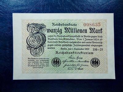 20 millionen mark 1923 UNC