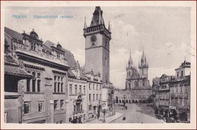 Praha (Prag) * Staroměstská radnice, orloj, část náměstí * M1026