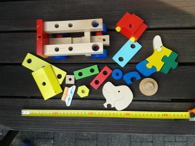 Dřevěné části hraček - směs konvolut