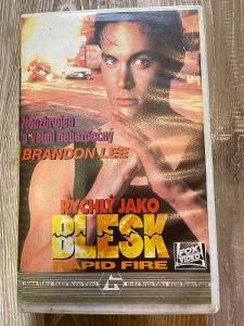 VHS Rychlý jako blesk - Rapid Fire 1992 GUILD CZ