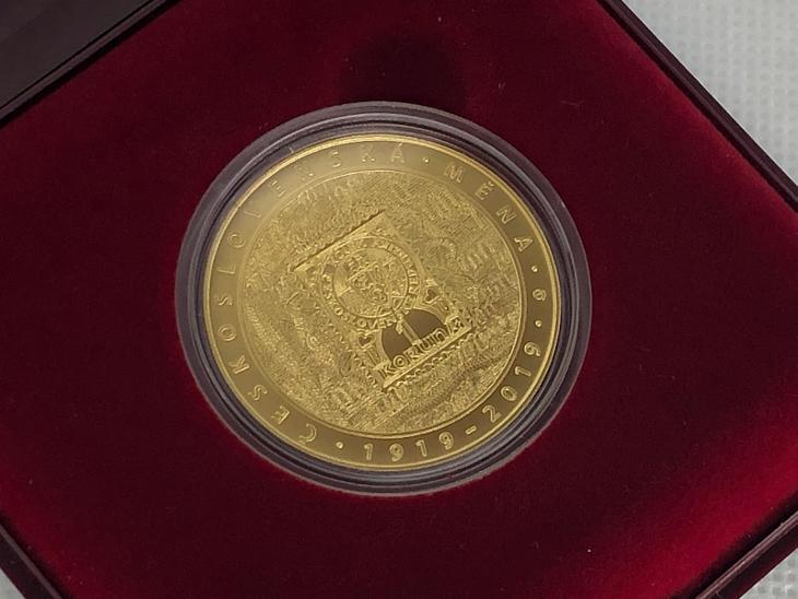 Zlatá mince 10000 Kč Zavedení československé měny 1oz 2019 ČNB BK - Numismatika