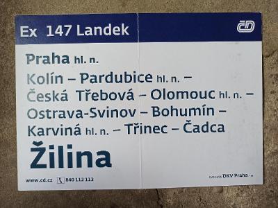 Směrová cedule -Ex 147/146 LANDEK