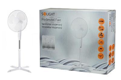Stojanový ventilátor Solight 45W - Bílý - Nový