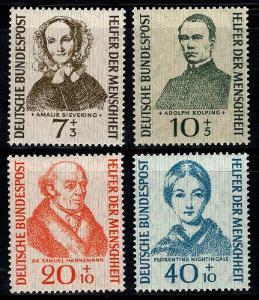 Německo 1955 Osobnosti Mi# 222-25 Kat 40€ 0422