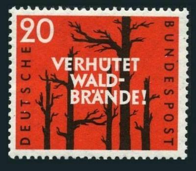 Německo 1958 Prevence lesních požárů Mi# 283 0422