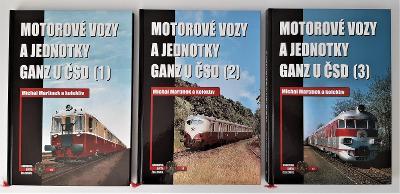 Motorové vozy a jednotky GANZ u ČSD (1,2,3)