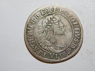 Leopold I. 6 Kreuzer 1668 KB VF č25790