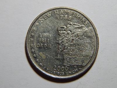 USA 1/4 Dollar 2000 D New Hampshire XF č24999