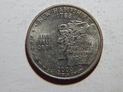 USA 1/4 Dollar 2000 D New Hampshire XF č25078