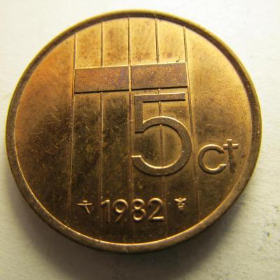 Nizozemsko - 5 cents z roku 1982 -1989, sada 8 kusů