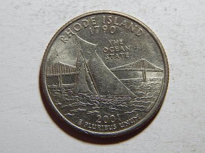 USA 1/4 Dollar 2001 P Rhode Island XF č25075