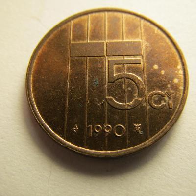 Nizozemsko - 5 cents z roku 1990 -2000, sada 11 kusů