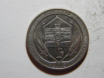 USA 1/4 Dollar 2015 D Homestead UNC č25066