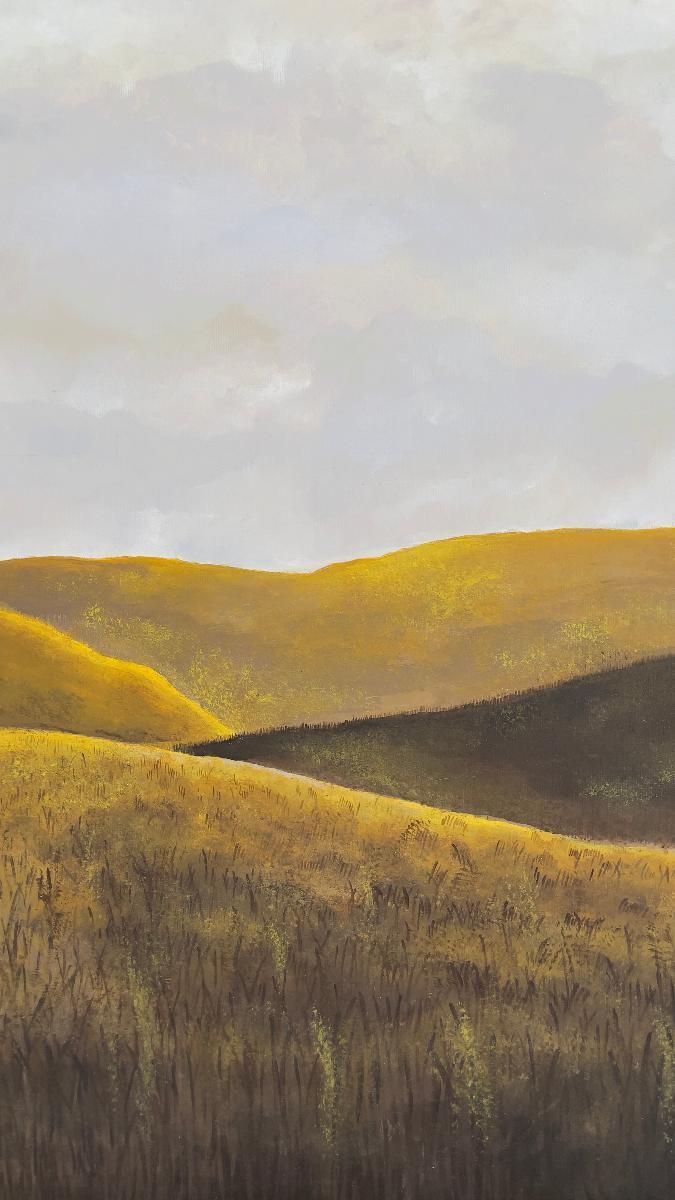 OBRAZ - Jarní pole 60x40 cm akryl - Umění