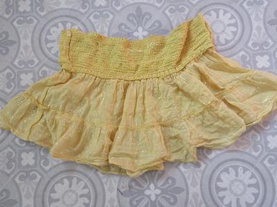sukně žlutá široká  mini