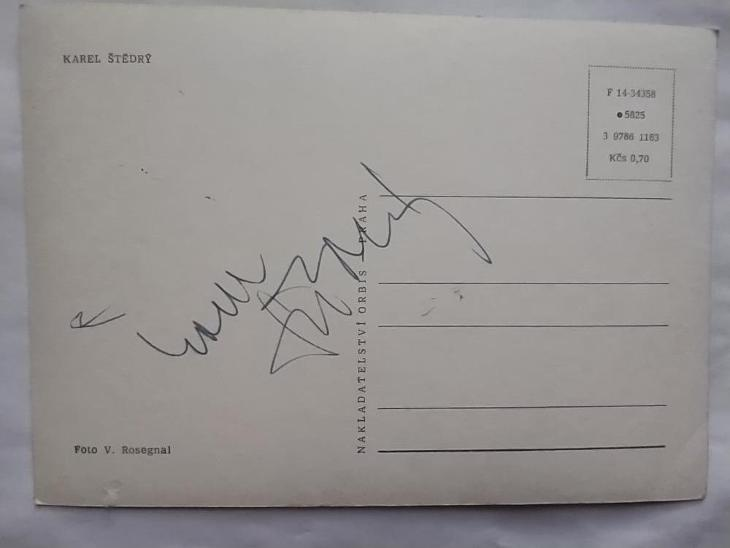 Autogram podpis Štědrý Karel - Ostatní