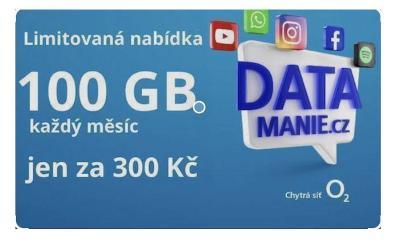 O2 - 100 GB - 300 / měsíc DATAMANIA