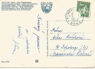 příležitostné razítko Brno 1962 Mezinárodní veletrh 2-1204°°