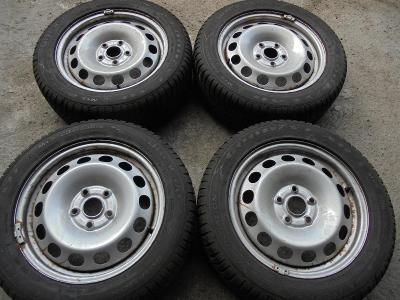 205 55 16 zimní 94H+16 plech VW Caddy, Golf, Škoda Octavia, 4kusy,ET50