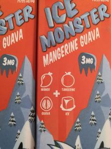 E-Liquid ledové mango 10 ks  10ml /  3mg- 100ml