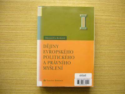 A. Krsková - Dějiny evropského politického a právního myšlení   2003-a