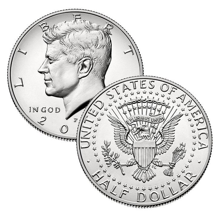 Kennedy Half Dollar 2020 P a D - UNC,z bank. pytle, sada  - Numismatika