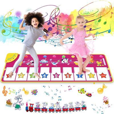 Dětská hudební podložka Joylink Musical Mat 100x36cm, růžová - piano