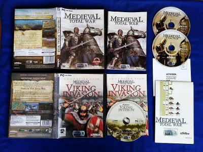 PC - MEDIEVAL TOTAL WAR + VIKING INVASION expans.pack (retro 2001) Top