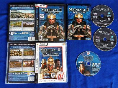 PC - MEDIEVAL 2 TOTAL WAR + KINGDOMS expans.pack (retro 2006)Top