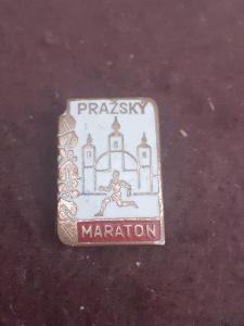 Odznak PRAŽSKÝ MARATON - bílá varianta