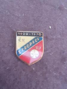 Odznak ŠK/ TJ Tesla Stropkov, výroční 50 let 1920 - 1970