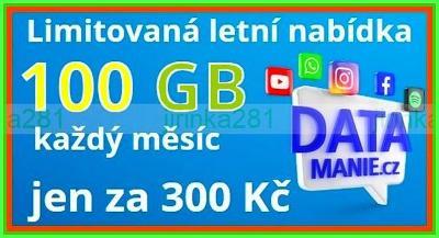 Limitovaná.edice - Datamanie -O2- 100GB (300Kč/Měs.) Nová/nerozbalená
