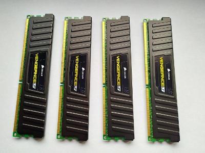 Paměť RAM DDR3 16GB 4x4GB Corsair Vengeance nízkoprofilové 1600MHz