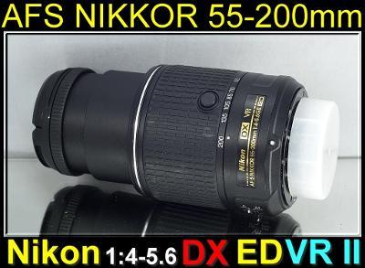 💥 NIKON AFS DX NIKKOR 55-200mm 1:4-5.6 G ED VR II **UV FILTR**👍TOP