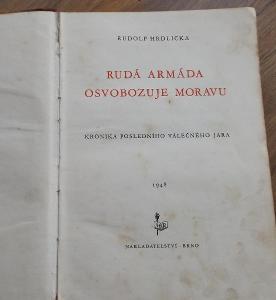 starý dokument - Rudá armáda osvobozuje Moravu, rok 1948