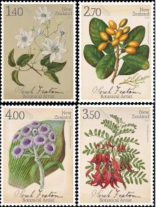 Nový Zéland 2021 Známky ** rostliny květiny botanika