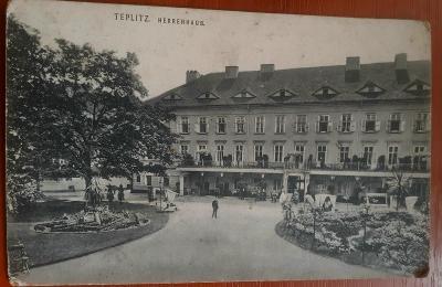 Teplice  - STARÁ POHLEDNICE - 1917 prošlá poštou