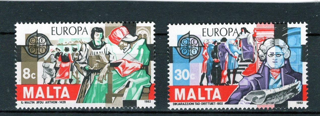 EUROPA CEPT Malta Mi 661-2** - Filatelie