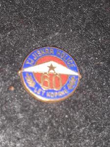 Odznak  TJ Jiskra Holice 60 let kopané