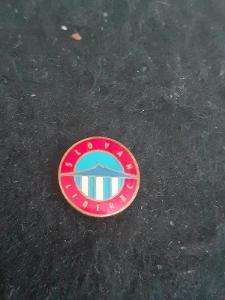 Odznak Slovan Liberec  - červená varianta