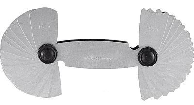 Rádiusové měrky / rádiusová šablona 7,5-15 mm