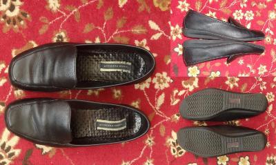 Značkové boty HUSH PUPPIES kožené, vel. 7