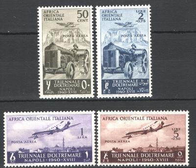 Talianska Východná Afrika 1940 * letecké komplet mi. 51-54