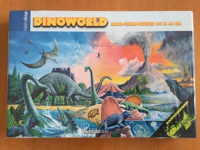 Puzzle Dinosauři neon 1000 dílků - nové